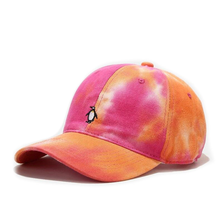 """TIE AND DYE"" Casquette baseball Orange Rose - URB1™"