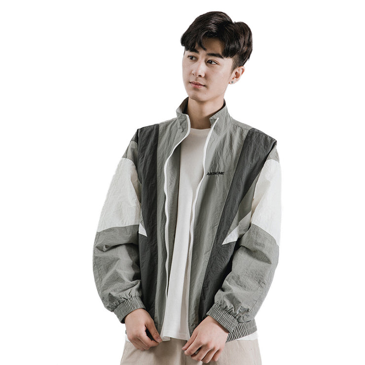 """ARTACME"" Veste coupe vent retro Gris - URB1™ - URB1™ Vêtements Streetwear mode boutique streetwear shop"