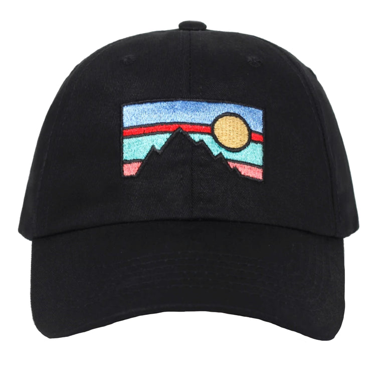 """'SUNSET"" Casquette baseball Streetwear Noir - URB1™ - URB1™ Vêtements Streetwear mode boutique streetwear shop"