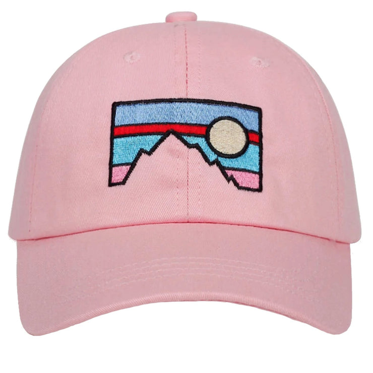"""SUNSET"" Casquette baseball Streetwear Rose - URB1™ - URB1™ Vêtements Streetwear mode boutique streetwear shop"