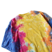 """Tie And Dye"" T-shirt Multicolor Délavé oversize - URB1™"