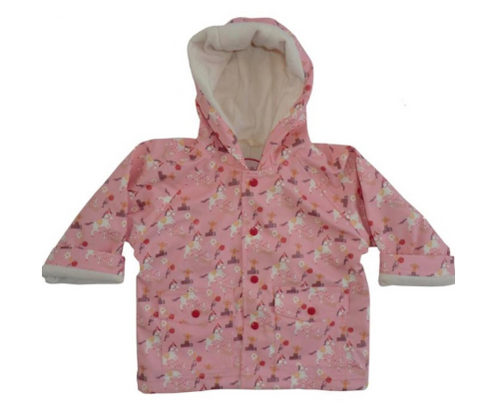 POWELL CRAFT Girls Pink Rain Coat