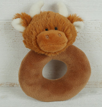 Jomanda Highland Cow Baby Rattle