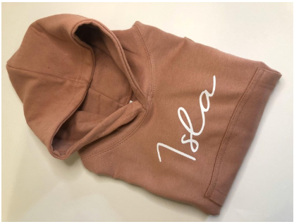 Dusty Pink Personalised Hoodie