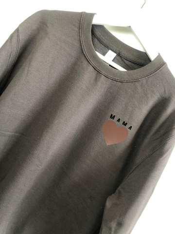 MAMA ROSE GOLD HEART JUMPER