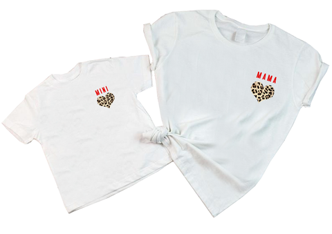 Mama & Mini Leopard Heart T-Shirt Twinset