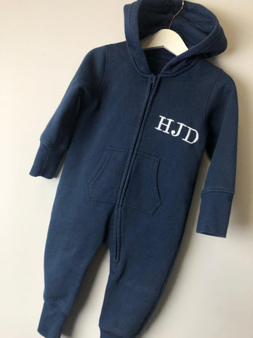 Initial Zip Up Onesie