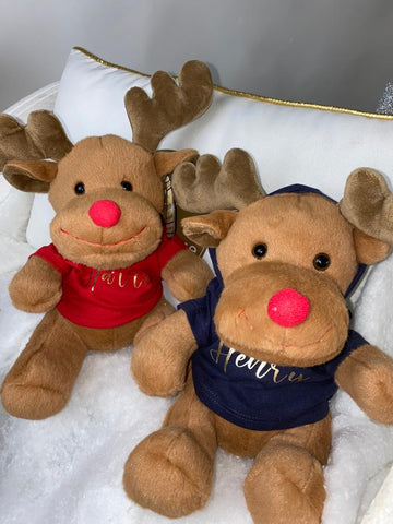 Personalised Christmas Reindeer Teddy