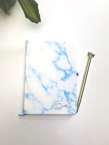 PERSONALISED BLUE NOTE BOOK