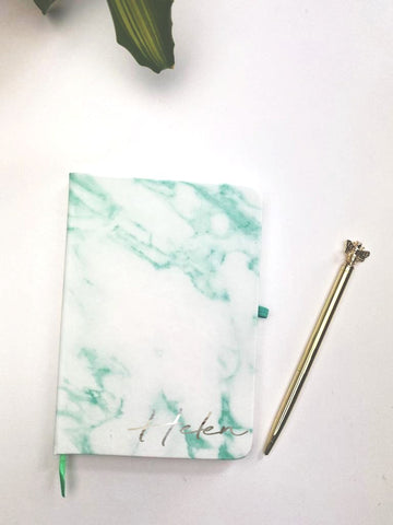 PERSONALISED GREEN NOTE BOOK