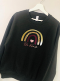 Adults Bee Kind Rainbow Jumper