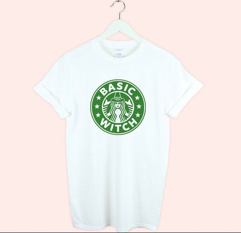 White Basic Witch T-Shirt