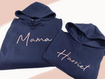 Rose Gold Mama Personalised Matching Hoodie Set