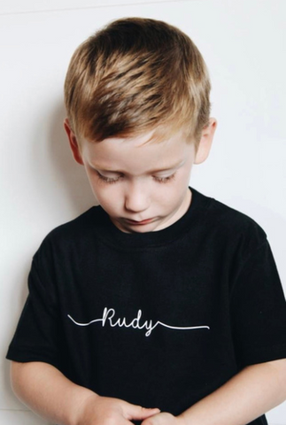Monochrome Personalised T-Shirt