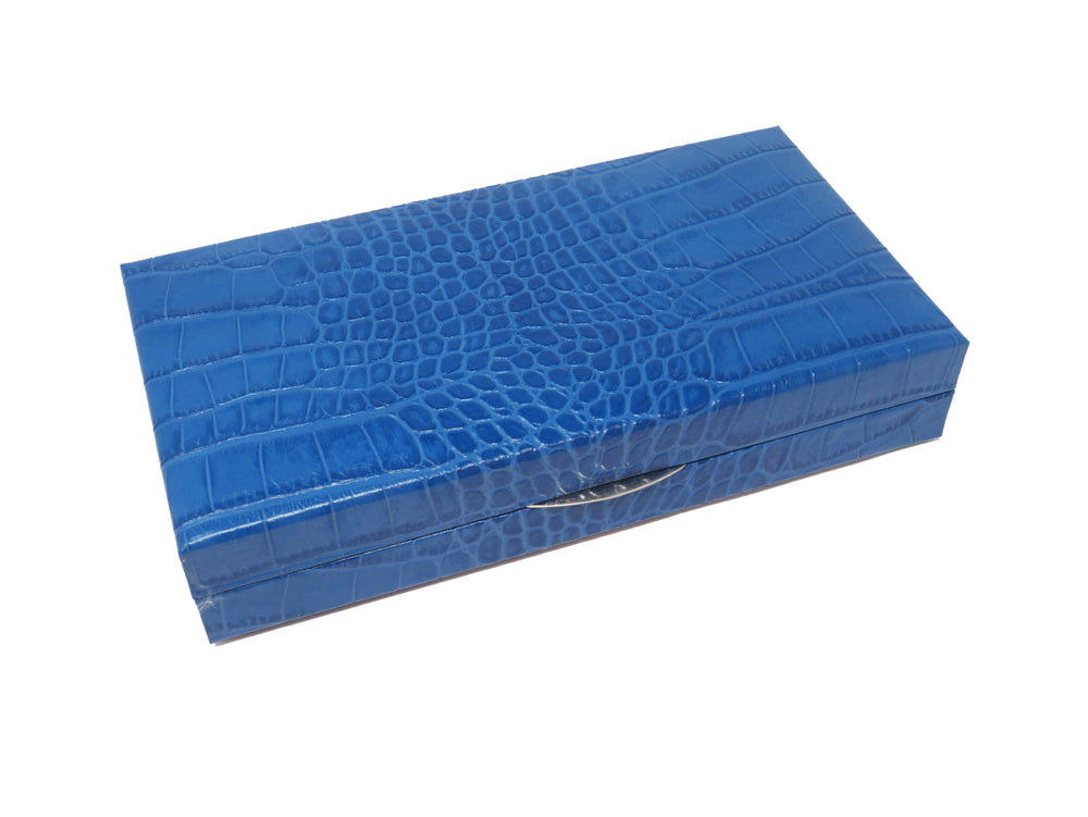 Travel Backgammon - Croco Blue