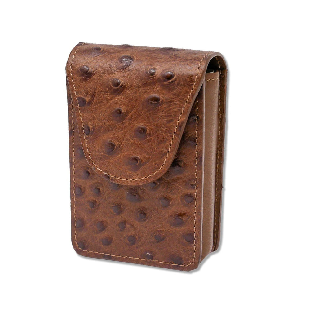 Cigarette Case - Brown Ostrich
