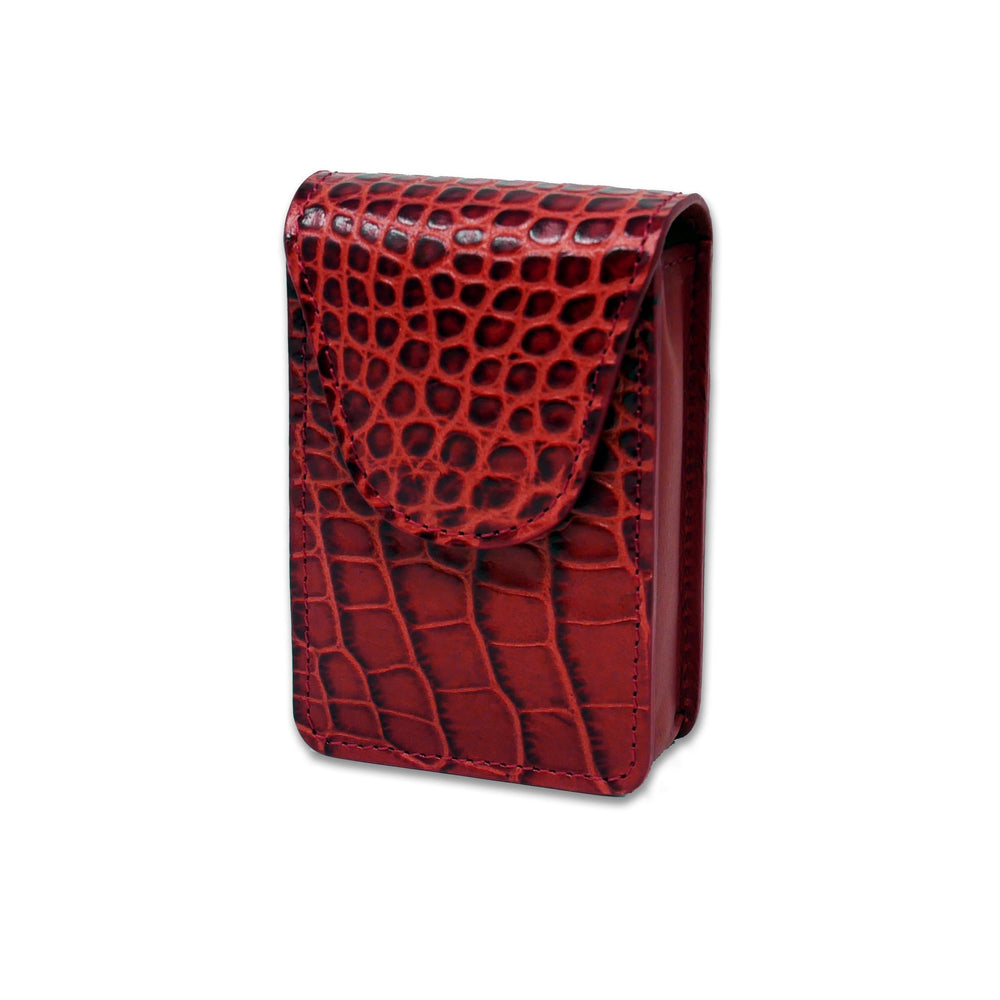 Cigarette Case - Red Crocodile