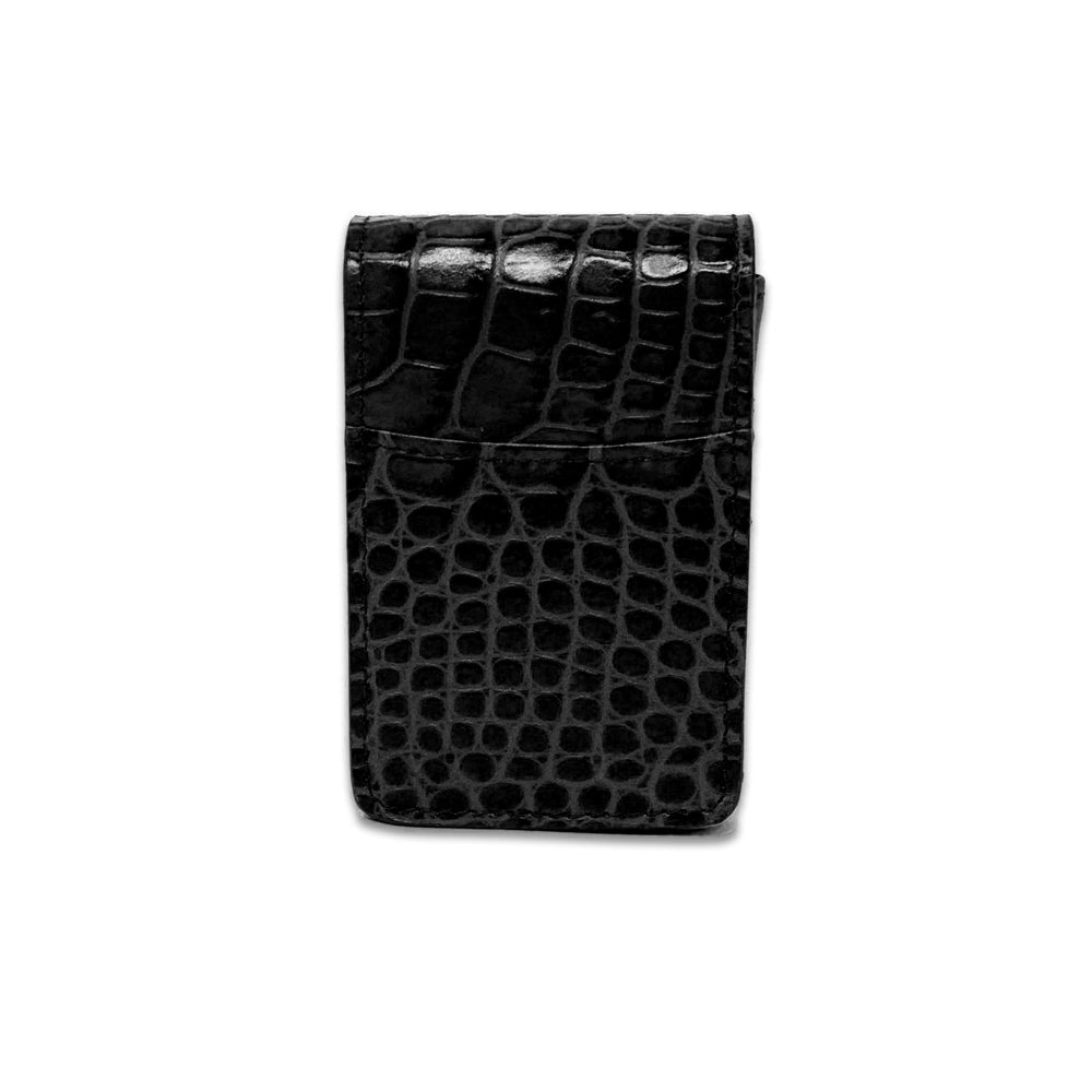 Cigarette Case - Black Crocodile