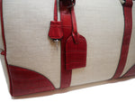Duffel Bag - Canvas & Leather Red