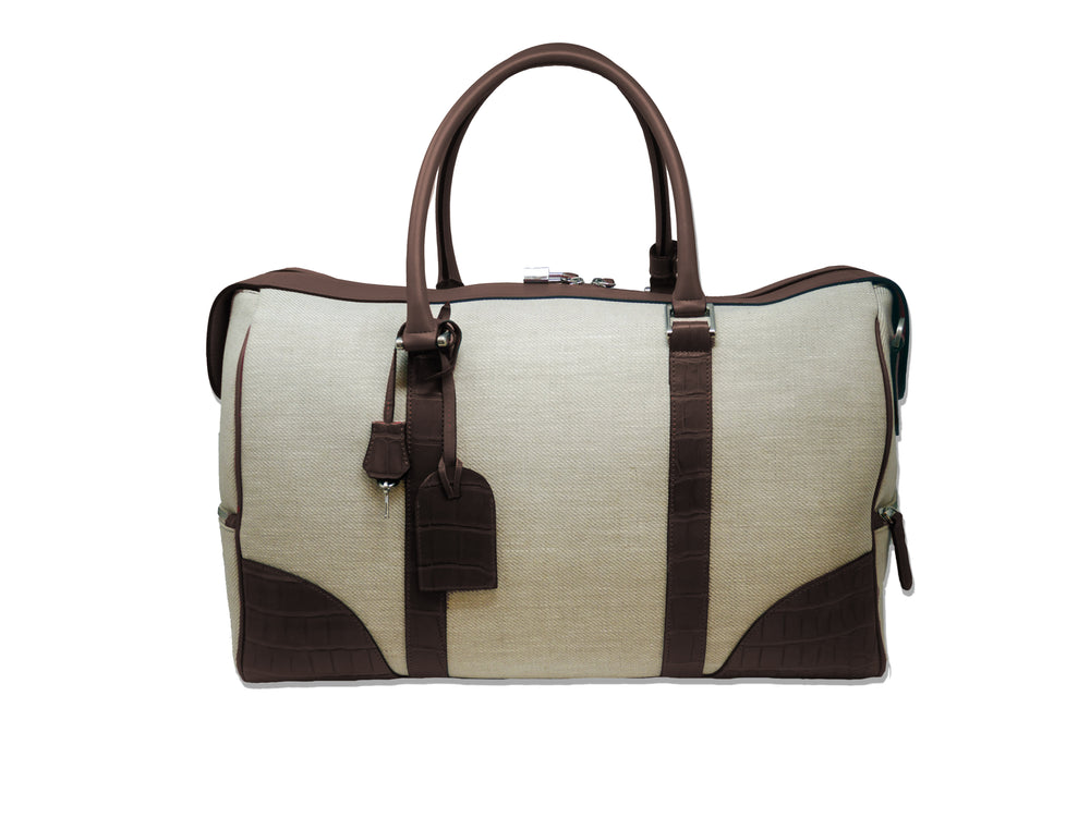 Duffel Bag - Canvas & Leather Brown