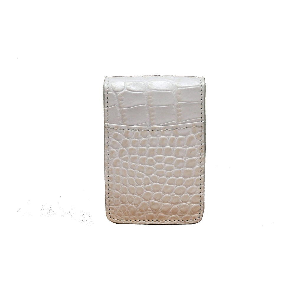 Cigarette Case - Off-White Crocodile