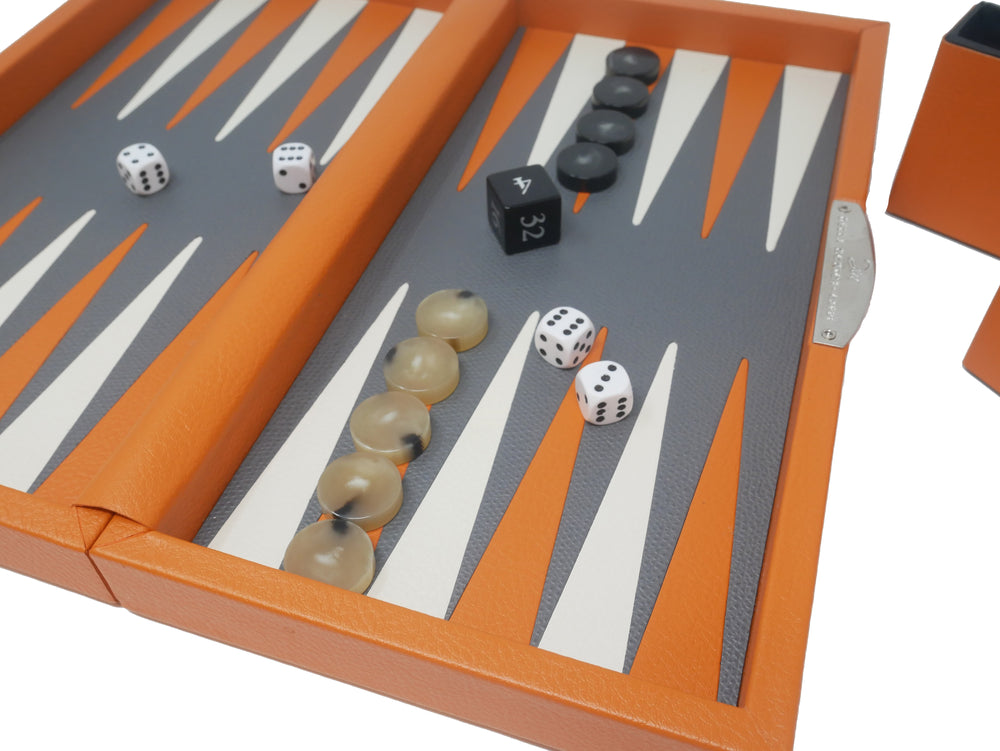 Travel Backgammon - Orange