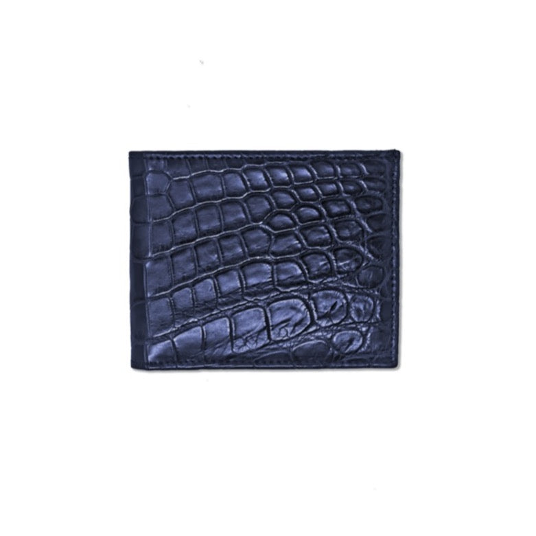 Wallet - Real Crocodile - Blue
