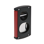Cigar Cutter V Cut - Black & Red