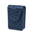 Cigarette Case - Blue Ostrich
