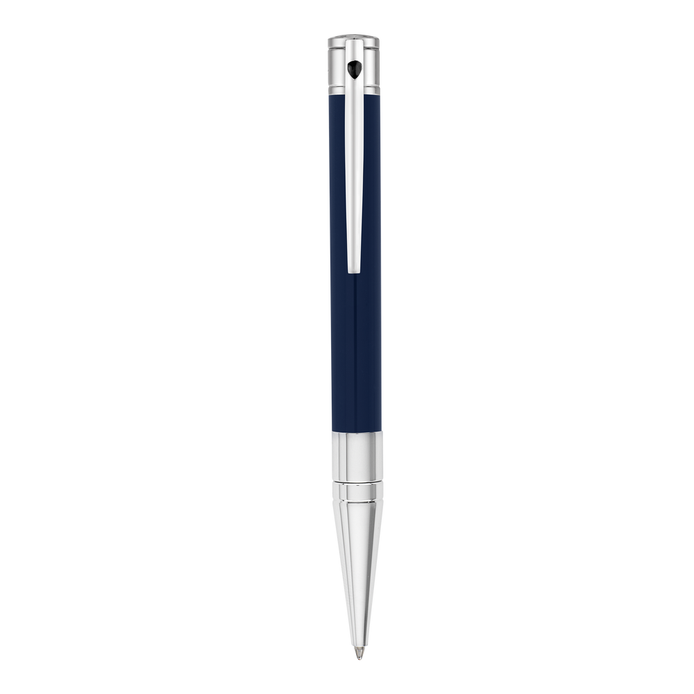 D-Initial Ballpoint - Blue & Chrome