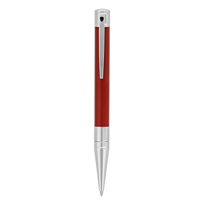 D-Initial Ballpoint - Red & Chrome