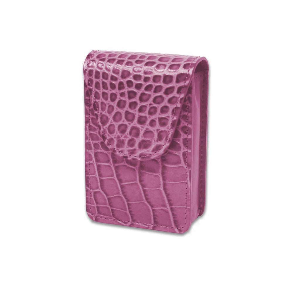 Cigarette Case - Pink Crocodile