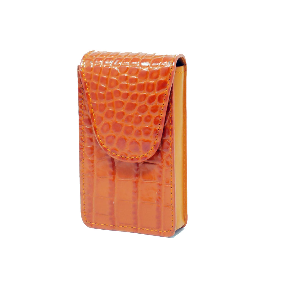 Cigarette Case - Orange Crocodile