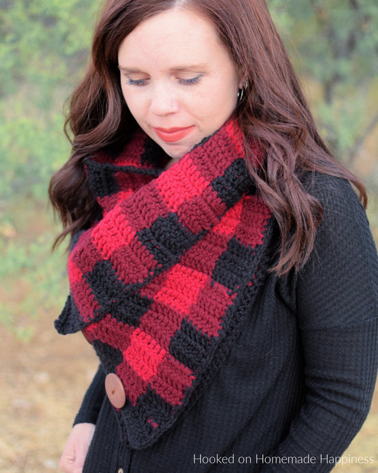 Buffalo Plaid Crochet Cowl Pattern