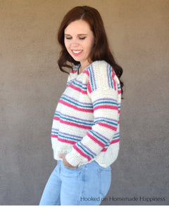 Pulled Taffy Pullover Crochet Pattern