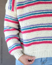 Load image into Gallery viewer, Pulled Taffy Pullover Crochet Pattern