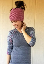Load image into Gallery viewer, Pebble Messy Bun Beanie Crochet PATTERN