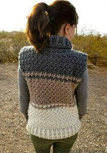 Load image into Gallery viewer, Cowl Sweater Vest Crochet Pattern