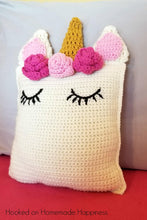 Load image into Gallery viewer, Unicorn Pillow Friend Crochet Pattern