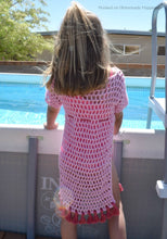 Load image into Gallery viewer, Kid's Swimsuit Cover Up Crochet PATTERN