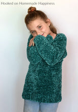 Load image into Gallery viewer, Kid's Velvet Sweater Crochet Pattern