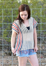 Load image into Gallery viewer, Picnic Poncho Crochet PATTERN