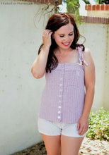 Load image into Gallery viewer, Button Down Tank Top Crochet Pattern