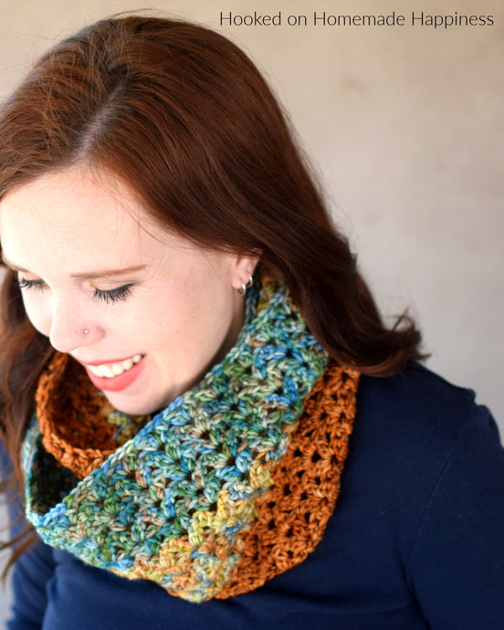 Autumn Stripes Infinity Scarf Pattern