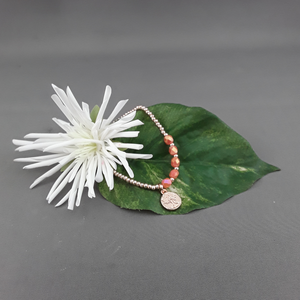 Rose gold stackable bracelet - Birdie's Nest Inc