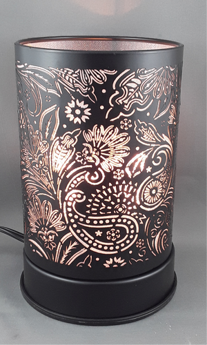 Touch lamp with oil burner | Black - Birdie's Nest Inc
