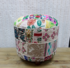 White multi colour stool - Birdie's Nest Inc