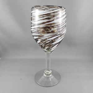 Wine glass | Brown & white - Birdie's Nest Inc