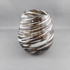 Stemless wine glass | Brown & white - Birdie's Nest Inc