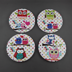 Set of 4 owl coasters - Birdie's Nest Inc